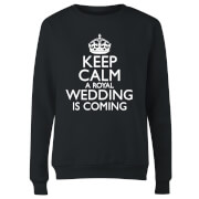 Keep Calm Wedding Coming Women's Sweatshirt - Black