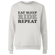 Eat Sleep Ride Repeat Women's Sweatshirt - White