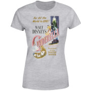 Disney Princess Cinderella Retro Poster Women's T-Shirt - Grey
