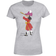 Disney Peter Pan Captain Hook Classic Women's T-Shirt - Grey
