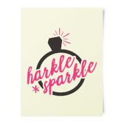 Harkle Sparkle Art Print