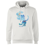 Disney Princess Filled Silhouette Ariel Hoodie - White