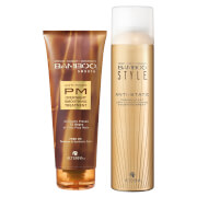 Alterna Bamboo Style Dry Finishing Spray and PM Overnight Smoothing Treatment Duo (Worth £45)