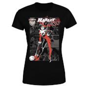 DC Comics Batman Harley Quinn Comic Page T-Shirt - Black