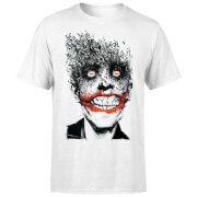 DC Comics Batman Joker Face Of Bats T-Shirt - White