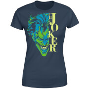 DC Comics Batman Split Joker Stare Dames T-shirt - Navy