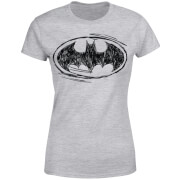 DC Comics Batman Sketch Logo Dames T-shirt - Grijs