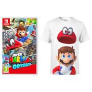 Super Mario Odyssey Game + Mario Odyssey T-Shirt
