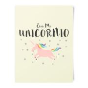 Eres Mi Unicornio Art Print