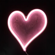Pink Heart LED Neon Wall Light