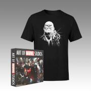 Thanos Infinity War Fierce T-Shirt and Art of Marvel Studios (4 Book Set) Bundle