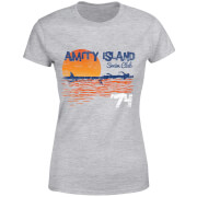 Jaws Amity Swim Club Dames T-shirt - Grijs