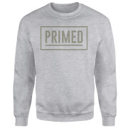 Primed Boxed Logo Sweatshirt - Grey