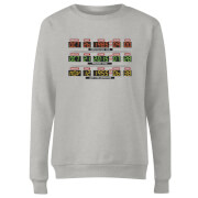 Back To The Future Destination Clock Women's Sweatshirt - Grey