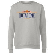 Back to the Future Outatime Plate Dames Trui - Grijs