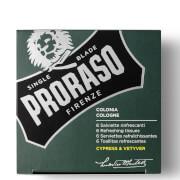 Proraso Refreshing Tissues – Cypress & Vetyver (6-pack)