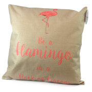 Black Ginger Flamingo Cushion