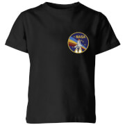 NASA Vintage Rainbow Shuttle Kids' T-Shirt - Black