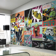Star Wars Retro Comic Pop Art Wall Mural