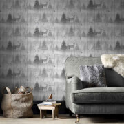 Superfresco Easy Grey Highland Plank Wallpaper