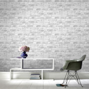 Fresco Industrial White Brick Wallpaper