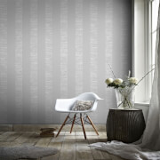 Boutique Silver Mara Stripe Wallpaper