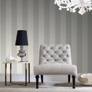 Boutique Silver Water Silk Stripe Wallpaper