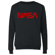NASA Worm Red Logotype Women's Sweatshirt - Black