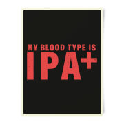 Beershield My Blood Type Art Print