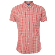 Broken Standard Men's Montgomery Checked Shirt - Red