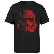 Star Wars Jedi Cubist Trooper Helmet Black T-Shirt - Black