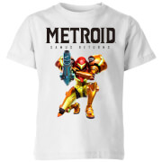 Nintendo Metroid Samus Returns Colour Kids' T-Shirt - White