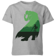 Nintendo The Legend Of Zelda Ganondorf Silhouette Kinder T-Shirt - Grau