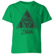 Nintendo The Legend Of Zelda Triforce Kinder T-Shirt - Grün