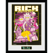 Rick and Morty Action Movie 12 x 16 Inches Framed Photograph