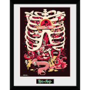 Rick and Morty Anatomy Park 12 x 16 Inches Framed Photograph