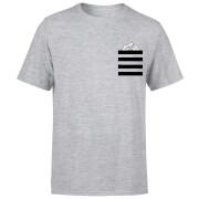 Looney Tunes Taz Stripes Pocket Print Men's T-Shirt - Grey