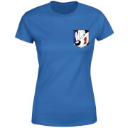 Looney Tunes Pepe Le Pew Face Faux Pocket Women's T-Shirt - Royal Blue