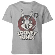 Looney Tunes Bugs Bunny Circle Logo Kids' T-Shirt - Grey