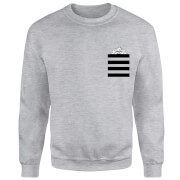 Looney Tunes Taz Stripes Pocket Print Sweatshirt - Grey