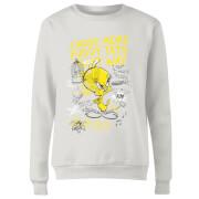 Looney Tunes Tweety Pie More Puddy Tats Women's Sweatshirt - White