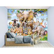 Walltastic Jungle Safari Wall Mural