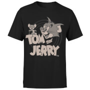 Tom & Jerry Circle Men's T-Shirt - Black