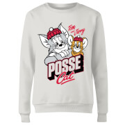 Tom & Jerry Posse Cat Women's Sweatshirt - White