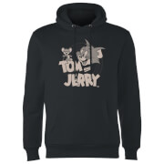 Tom & Jerry Circle Hoodie - Black