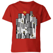 The Incredibles 2 Skyline Kids' T-Shirt - Red