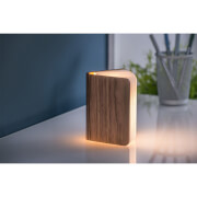 Gingko Mini Smart Book Light - Walnut