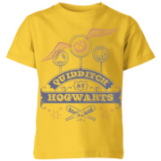 Harry Potter Quidditch At Hogwarts Kinder T-Shirt - Gelb