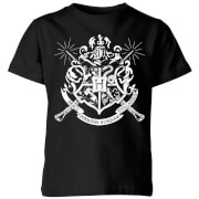 Harry Potter Hogwarts House Crest Kids' T-Shirt - Black