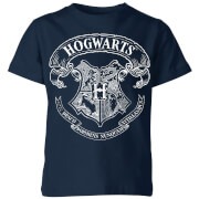 Harry Potter Hogwarts Crest Kinder T-Shirt - Navy Blau